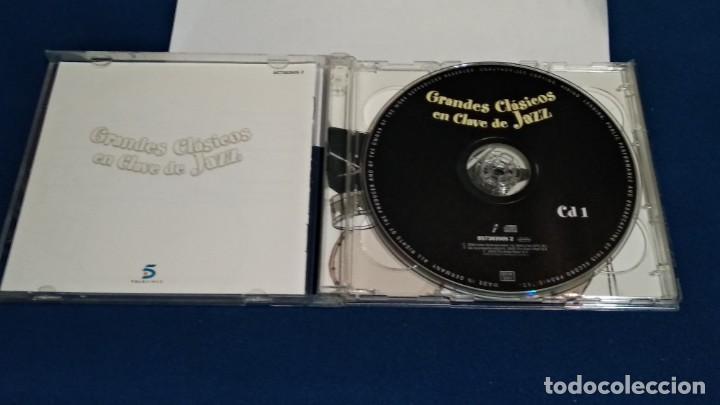 CDs de Música: CD DOBLE 2 DISCOS ( GRADES CLÁSICOS EN CLAVE DE JAZZ ) 2000 DRO TELECINCO - Foto 4 - 234784730