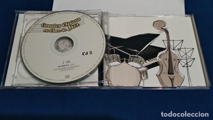 CDs de Música: CD DOBLE 2 DISCOS ( GRADES CLÁSICOS EN CLAVE DE JAZZ ) 2000 DRO TELECINCO - Foto 5 - 234784730