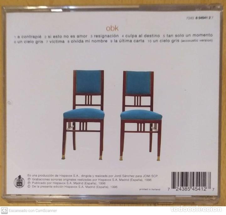 CDs de Música: OBK (DONDE EL CORAZON NOS LLEVE) CD 1996 - Foto 2 - 234904050