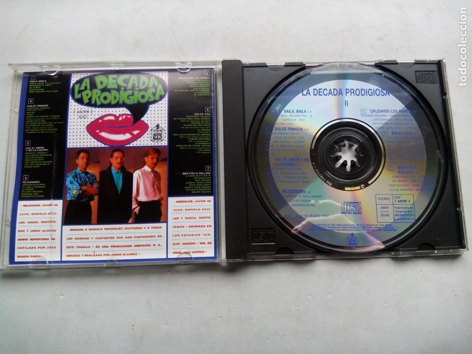 CDs de Música: LA DÉCADA PRODIGIOSA 2. CD HISPAVOX 7 48296 2. ESPAÑA 1987. LA DÉCADA PRODIGIOSA II. - Foto 2 - 234905185