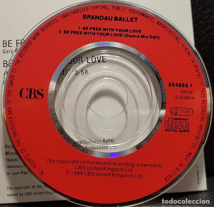 CDs de Música: SPANDAU BALLET - BE FREE WITH YOUR LOVE - CD SINGLE 3 PULGADAS - REINO UNIDO - RARO - NO USO CORREOS - Foto 4 - 234906450