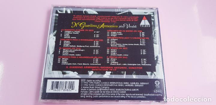 CDs de Música: CD-IL GIARDINO ARMÓNICO PLAY VIVALDI-EXCELENTE-COLECCIONISTAS-VER FOTOGRAFÍAS. - Foto 3 - 234936855
