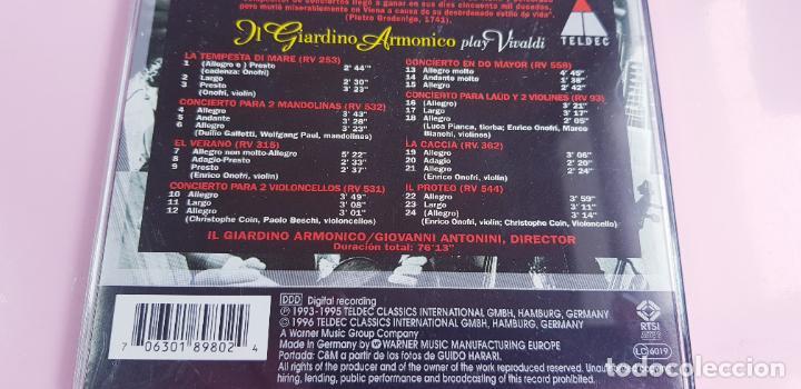 CDs de Música: CD-IL GIARDINO ARMÓNICO PLAY VIVALDI-EXCELENTE-COLECCIONISTAS-VER FOTOGRAFÍAS. - Foto 5 - 234936855