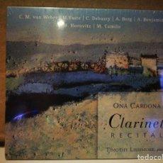 CDs de Música: ONA CARDONA/RECITAL DE CLARINETE. Lote 234996275