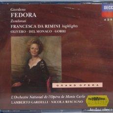 CDs de Música: 2 CD. FEDORA. DA RIMINI. Lote 235086720