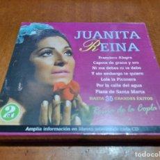 CDs de Música: JUANITA REINA. REINA DE LA COPLA. DOBLE CD PRECINTADO SIN ABRIR. 35 TEMAS.. Lote 235096965