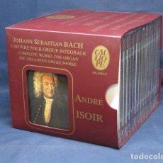 CDs de Música: JOHANN SEBASTIAN BACH - ANDRÉ ISOIR - L'ŒUVRE POUR ORGUE INTÉGRALE - 15 CD. Lote 235155845