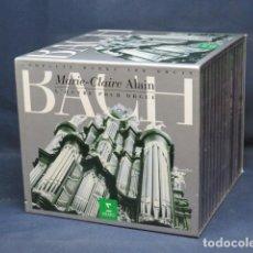 CDs de Música: BACH / MARIE-CLAIRE ALAIN - COMPLETE WORKS FOR ORGAN = L'ŒUVRE POUR ORGUE - 14 CD. Lote 235156540