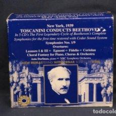 CDs de Música: ARTURO TOSCANINI - TOSCANINI CONDUCTS BEETHOVEN - 5 CD. Lote 235157345