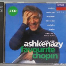 CDs de Música: 2 CD. FAVOURITE CHOPIN. ASHKENAZY. Lote 235180205
