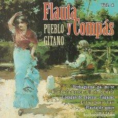 CDs de Música: FLAUTA Y COMPÁS - PUEBLO GITANO VOL 4. Lote 235187195