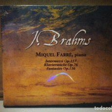 CDs de Música: BRAHMS, MIQUEL FARRE. Lote 235194425