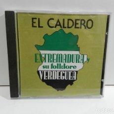CD de Música: DISCO CD. EL CALDERO - EXTREMADURA Y SU FOLKLORE: VERDEGUEA. COMPACT DISC.. Lote 235199280