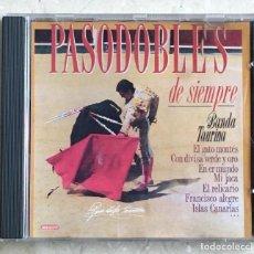 CDs de Música: CD BANDA TAURINA - PASODOBLES DE SIEMPRE. Lote 235280555