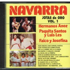 CDs de Música: NAVARRA. JOTAS DE ORO VOL. 1 - CD 1994. Lote 235330890