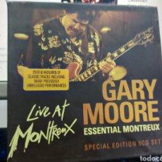 CDs de Música: GARY MOORE CAJA BOX CON 5 CD'S + LIBRETO LIVE AT MONTREUX ESSENTIAL. Lote 235336960