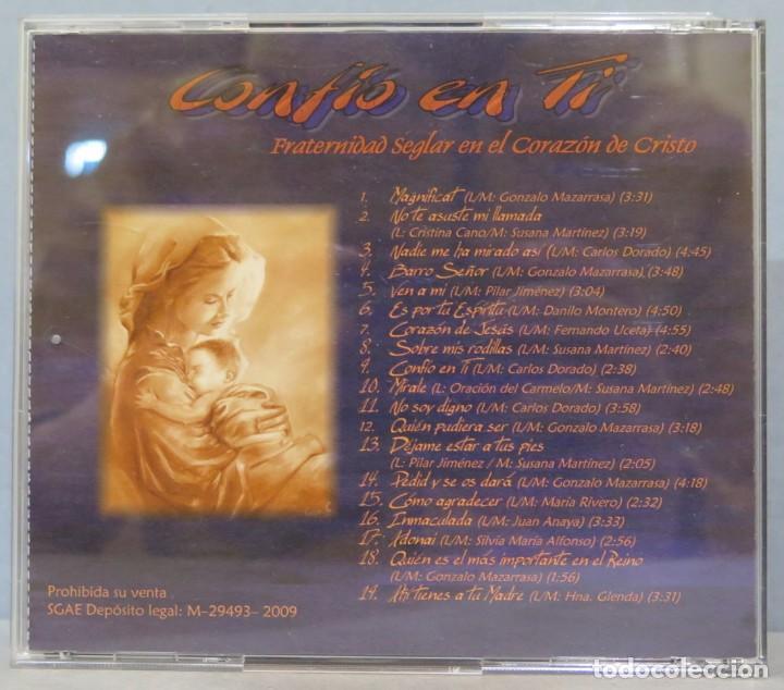 CDs de Música: CD. FRATERNIDAD SEGLAR EN EL CORAZON DE CRISTO. CONFIO EN TI - Foto 3 - 235348220