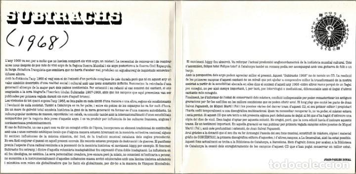 CDs de Música: RAFAEL SUBIRACHS (1968) (CD) - 2005 - CANÇÓ CATALANA - Foto 4 - 235363370