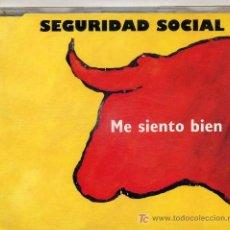CDs de Música: SEGURIDAD SOCIAL / ME SIENTO BIEN (CD SINGLE DE 1993). Lote 235446245