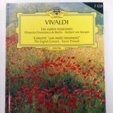 """CDs de Música: VIVALDI - LAS CUATRO ESTACIONES. CONCERTI """"CON MOLTI ISTROMENTI"""" - DEUTSCHE GRAMMOPHON -LIBRO + 2CDS. Lote 235522205"""