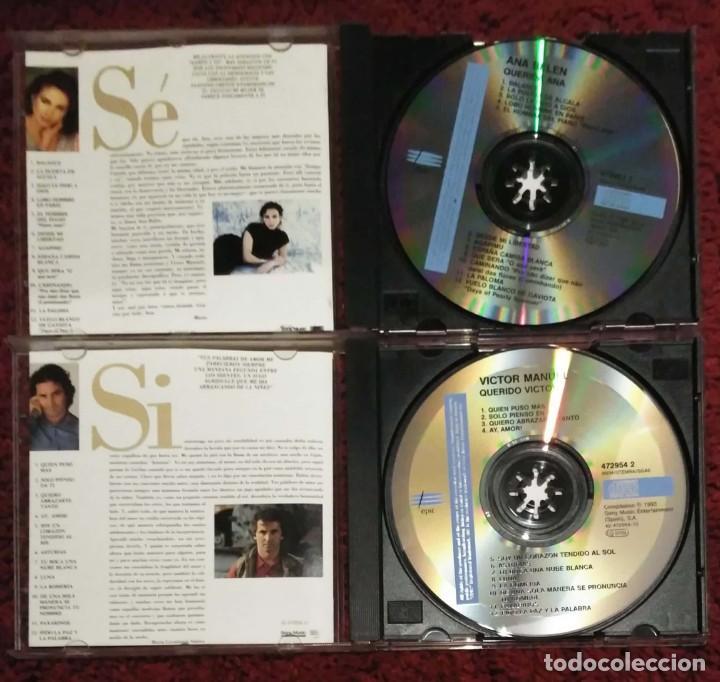 CDs de Música: ANA BELEN Y VICTOR MANUEL (QUERIDA ANA Y QUERIDO VICTOR) 2 CDs 1993 - Foto 3 - 235547080