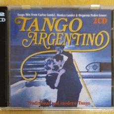 CDs de Música: TANGO ARGENTINO - 2 CD'S 1995 (CARLOS GARDEL - MONICA LANDER & ORQUESTA PEDRO GOMEZ). Lote 235549415