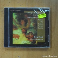 CDs de Musique: JOSEP BENET - MUSICA BARROCA CATALANA - CD. Lote 235664090