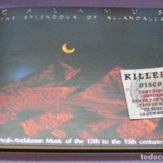 CDs de Música: CÁLAMUS - THE SPLENDOUR OF AL-ANDALUS - CARLOS / EDUARDO PANIAGUA - LUIS DELGADO - CD DIGIPACK. Lote 235678105