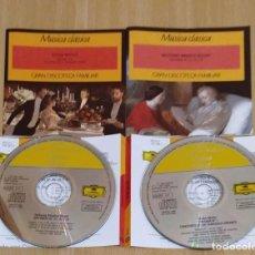 CDs de Música: LOTE 2 CD'S GRAN DISCOTECA FAMILIAR (WOLFGANG AMDEUS MOZART - GUSTAV MAHLER). Lote 235719490