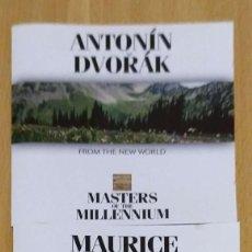 CDs de Música: LOTE 2 CD'S MASTER OF THE MILLENNIUM (MAURICE RAVEL - ANTONIN DVORAK). Lote 235719750