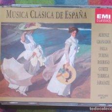 CDs de Música: MÚSICA CLÁSICA DE ESPAÑA (ALBENIZ, FALLA, GRANADOS....) 2 CD'S 1991. Lote 235726015