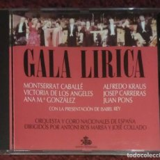 CDs de Música: GALA LIRICA - CD 1989 (MONTSERRAT CABALLÉ, JOSEP CARRERAS, ALFREDO KRAUS, JUAN PONS....). Lote 235732190