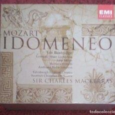 CDs de Música: WOLFGANG AMADEUS MOZART (IDOMENEO) 3 CD'S + LIBRETO 2002. Lote 235736025