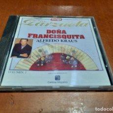 CDs de Música: ALFREDO KRAUS. DOÑA FRANCISQUITA. TIEMPO DE ZARZUELA 7. CD EN BUEN ESTADO. Lote 235815420