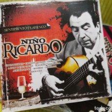 CDs de Música: CD, NIÑO RICARDO, SENTIMIENTO FLAMENCO, 2009,COMO NUEVO(NM_NM). Lote 235886045
