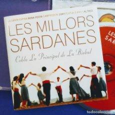 CDs de Música: LES MILLORS SARDANES, COBLA LA PRINCIPAL DE LA BISBAL, 2004, COMO NUEVO (NM_NM). Lote 235895665
