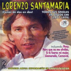 CDs de Música: LORENZO SANTAMARIA - ¡EXITOS DE DOS EN DOS! - 2CDS. Lote 235958315