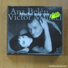CDs de Música: ANA BELEN / VICTOR MANUEL - MUCHO MAS QUE DOS - 2 CD. Lote 235972460