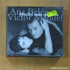 CDs de Música: ANA BELEN / VICTOR MANUEL - MUCHO MAS QUE DOS - 2 CD. Lote 235973590
