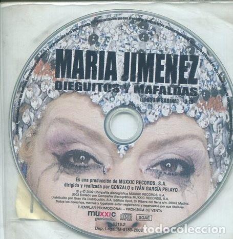 MARIA JIMENEZ / DIEGUITOS Y MAFALDAS (CD SINGLE PICTURE PROMO 2002 ) (Música - CD's Flamenco, Canción española y Cuplé)