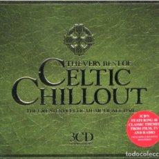 CDs de Música: THE VERY BEST OF CELTIC CHILLOUT. RECOPILATORIO. TRIPLE CD. Lote 236033360