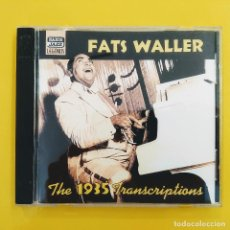 CDs de Música: CD,FATS WALLER, THE 1935 TRANSCRIPTIONS, 2001, NAXOS JAZZ LEGENDS-8.120577 ,COMO NUEVO(NM_NM). Lote 236085040
