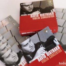 CDs de Música: DAVID OISTRAKH, VOLIN CONCERTOS,HISTORIC RUSSIAN ARCHIVES,10 CD BOX, 2005, COMO NUEVO (NM_NM). Lote 236117655