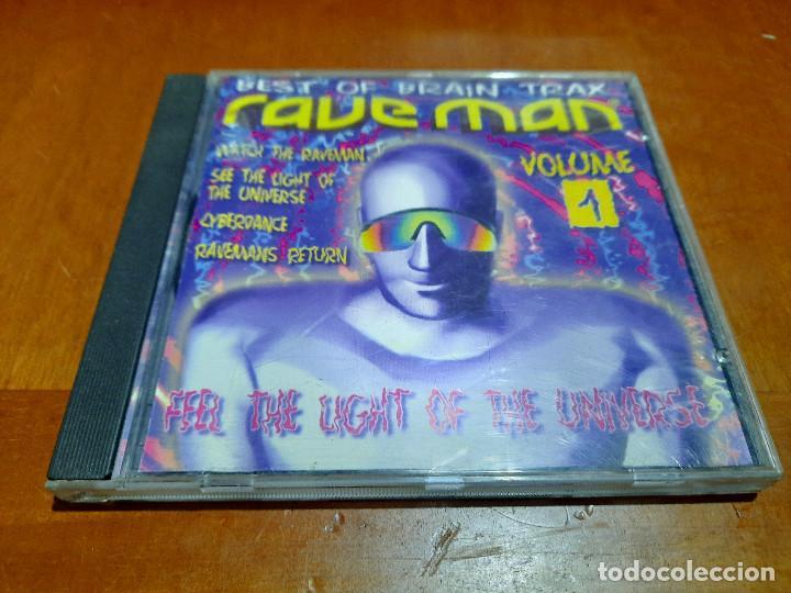 RAVE MAN. VOLUME 1. BEST OF BRAIN TRAX. CD EN BUEN ESTADO CON 4 TEMAS. DIFICIL (Música - CD's Disco y Dance)