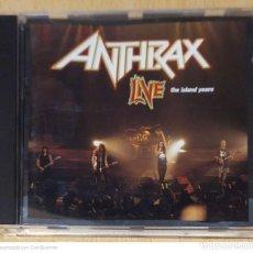 CDs de Música: ANTHRAX (LIVE - THE ISLAND YEARS) CD 1994. Lote 236218390