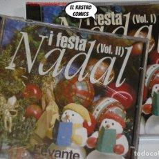 CDs de Música: NADAL I FESTA, DOS CD VOL. 1 Y 2 LEVANTE CANÇONS POPULARS VALENCIANES VILLANCICOS NAVIDAD PRECINTADO. Lote 236236290