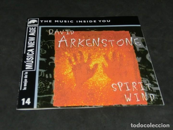 CDs de Música: CD - DAVID ARKENSTONE - SPIRIT WIND - LO MEJOR DE LA MÚSICA NEW AGE 14 - Foto 3 - 236268210