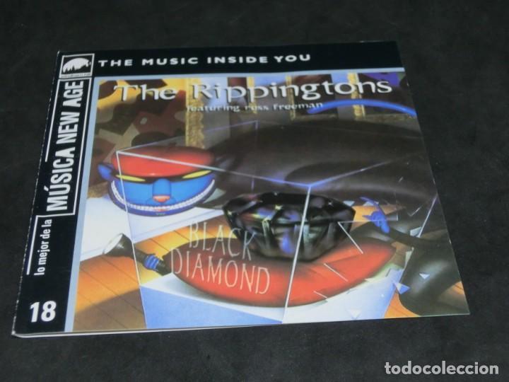 CDs de Música: CD -THE RIPPINGTONS FEATURING RUSS FREEMAN - BLACK DIAMOND - LO MEJOR DE LA MÚSICA NEW AGE 18 - Foto 3 - 236269595