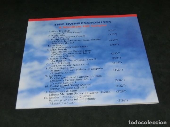 CDs de Música: THE IMPRESSIONISTS - A WINDHAM HILL SAMPLER - LAS NUEVAS MÚSICAS 1992 - CD 1995 - Foto 4 - 236272520