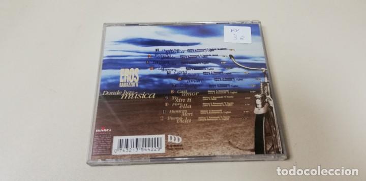 CDs de Música: C7- EROS RAMAZZOTTI DONDE HAY MUSICA -CD - Foto 2 - 236418500